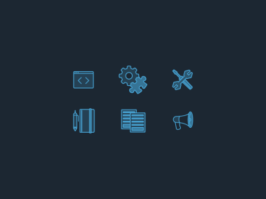 Icons for Bitcasa Developer Documentation & Resource Center